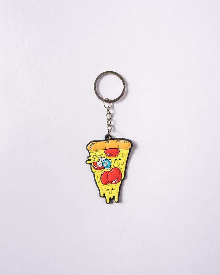 PBR PIZZA KEYCHAIN - Pabst Blue Ribbon Store