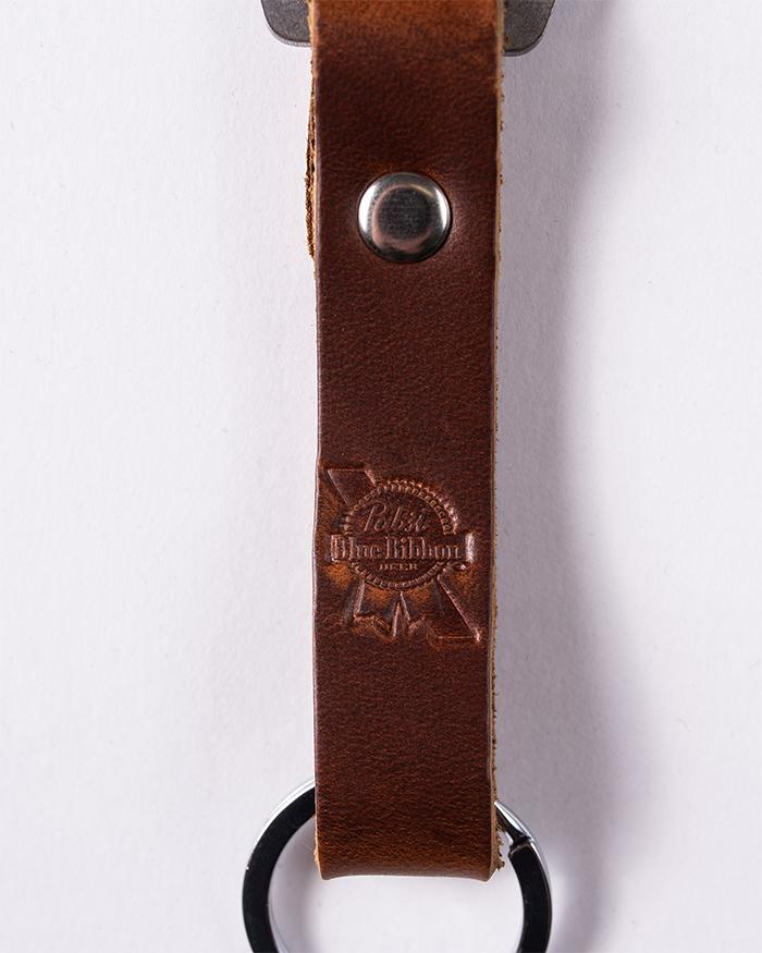 Leather Keychain Bottle Opener - Pabst Blue Ribbon Store