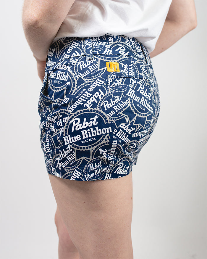 PBR Loudmouth Women's Shorts - Pabst Blue Ribbon Store