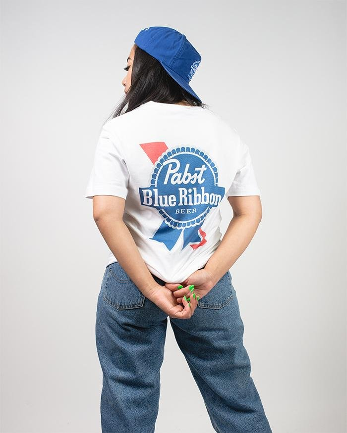 Women's Ribbon Tee - Pabst Blue Ribbon Store