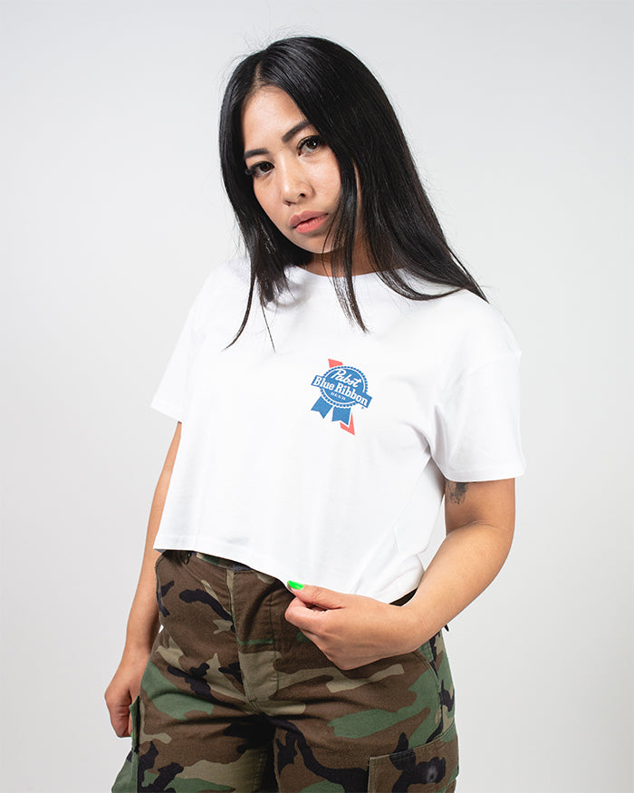 Womens PBR Crop Tee - Pabst Blue Ribbon Store