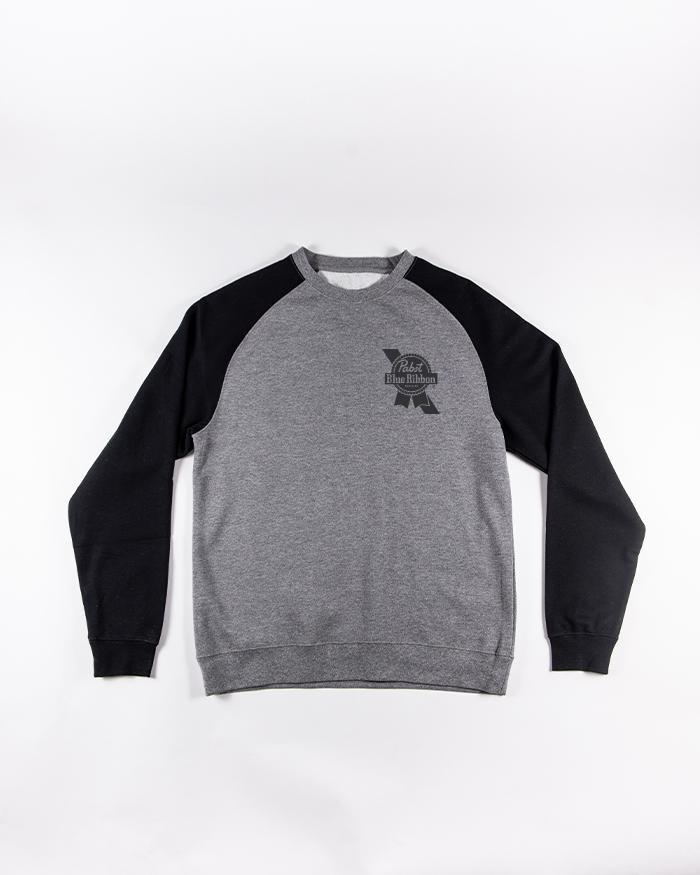 Simple Crew-neck Raglan - Pabst Blue Ribbon Store