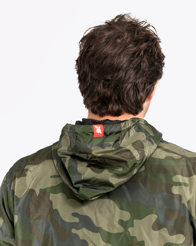 Covered Windbreaker Jacket Camo