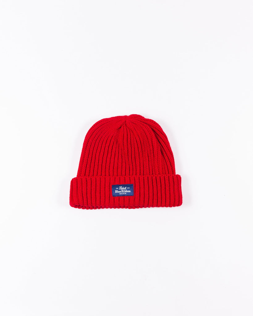 Label Beanie- Red - Pabst Blue Ribbon Store