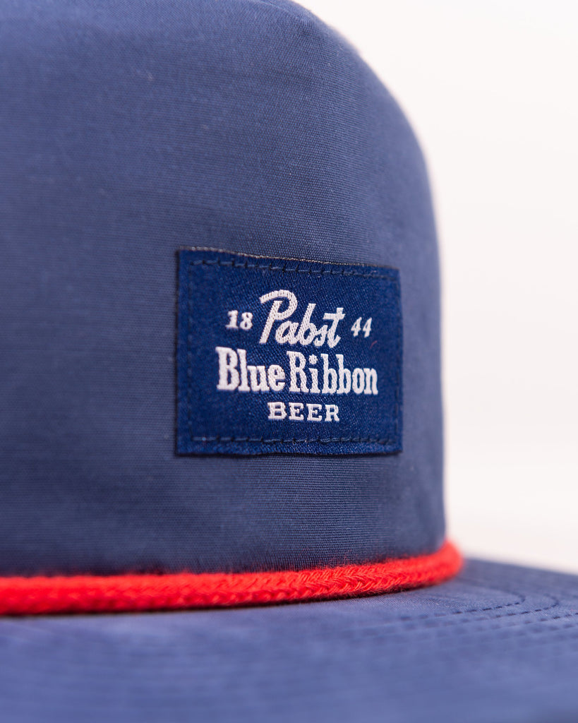 Label Snapback- Navy - Pabst Blue Ribbon Store