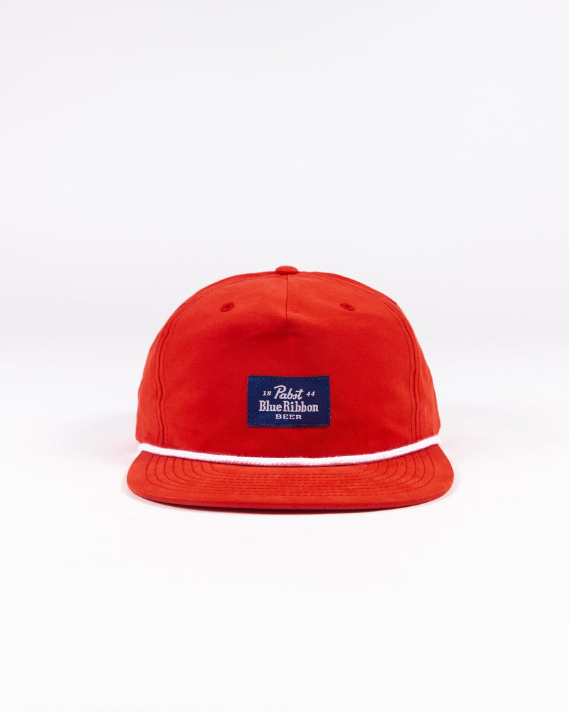 Label Snapback- Red - Pabst Blue Ribbon Store