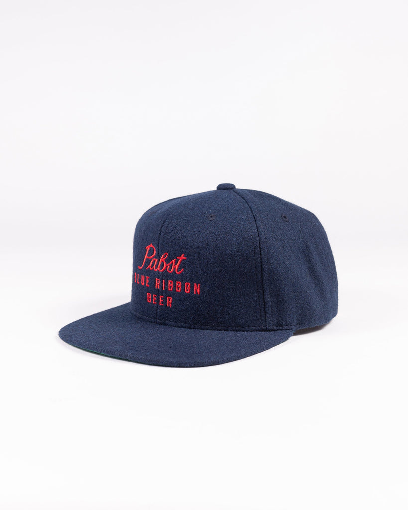 Scripted Wool Snapback - Pabst Blue Ribbon Store
