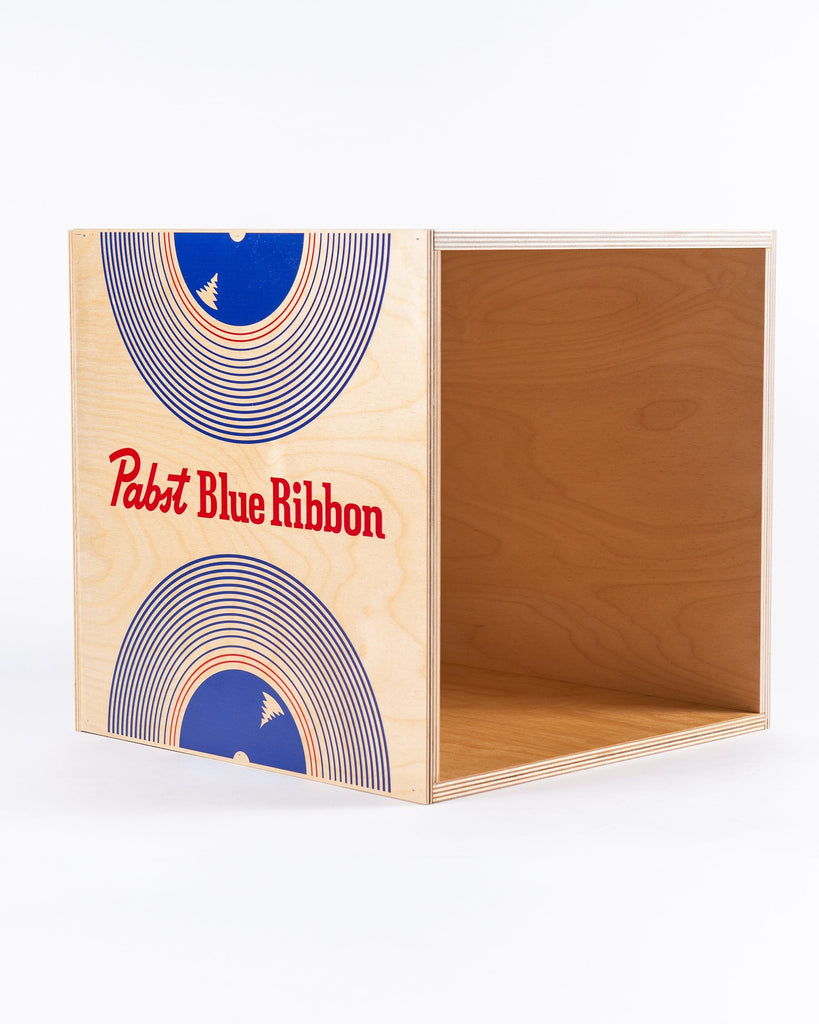 Blue Ribbon Record Bin - Pabst Blue Ribbon Store