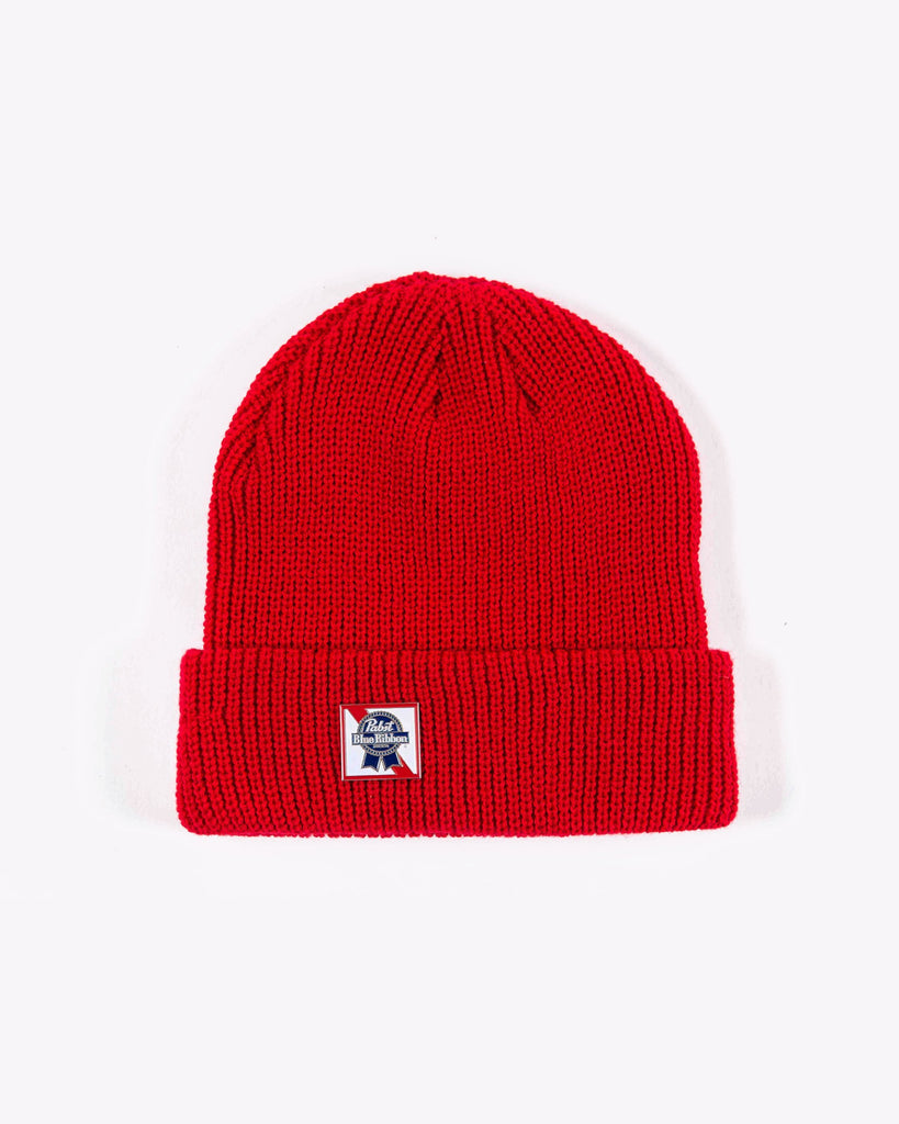 ORIGINAL BEANIE- RED - Pabst Blue Ribbon Store