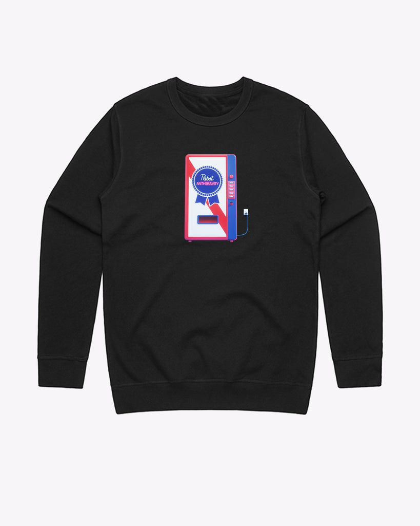 Art Can Travis Ragsdale Vending Machine Crew Neck - Pabst Blue Ribbon Store