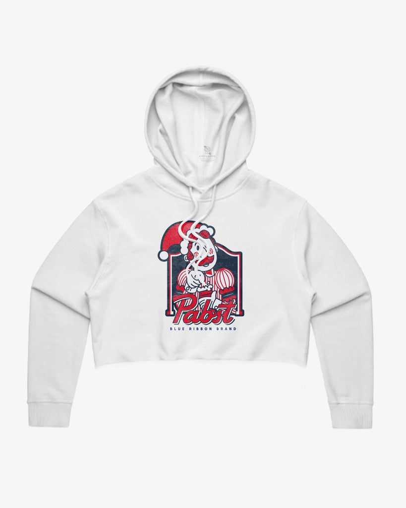 Women's Holiday Crop Hoodie