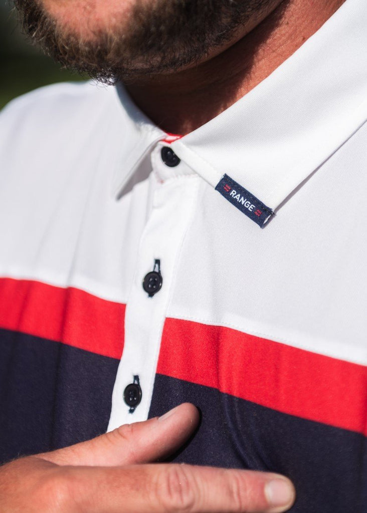 PBR x =RANGE= GOLF Stripe Polo