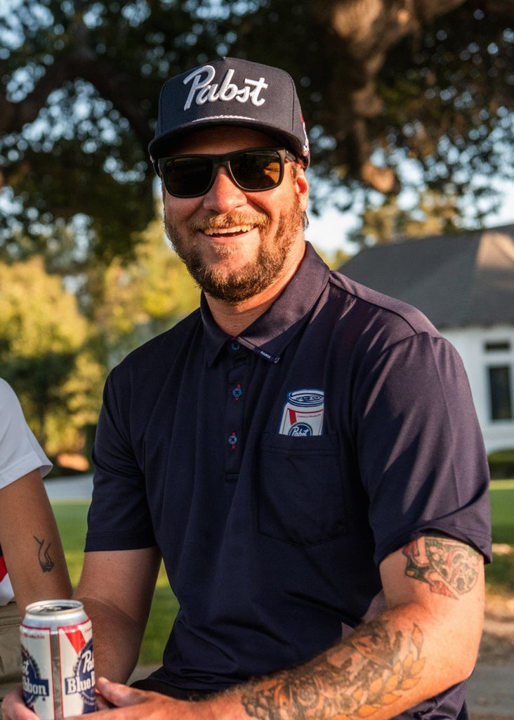 PBR x =RANGE= GOLF Pocket Polo