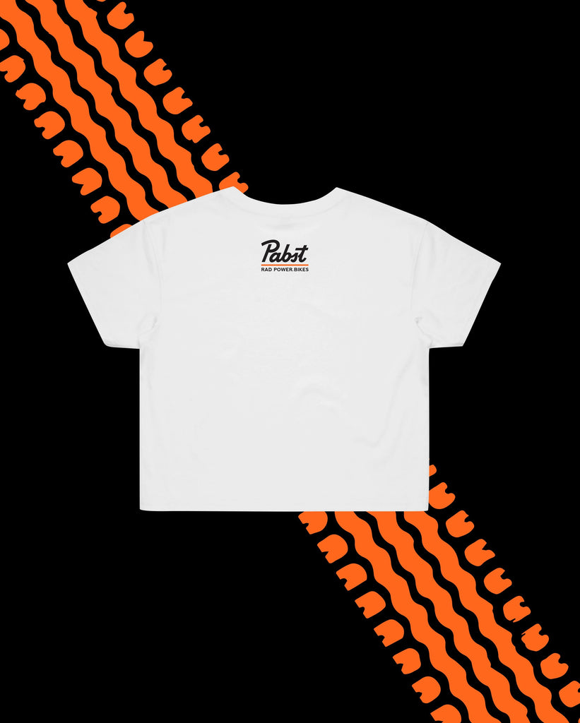 Pabst X Rad Women's Crop Tee- White