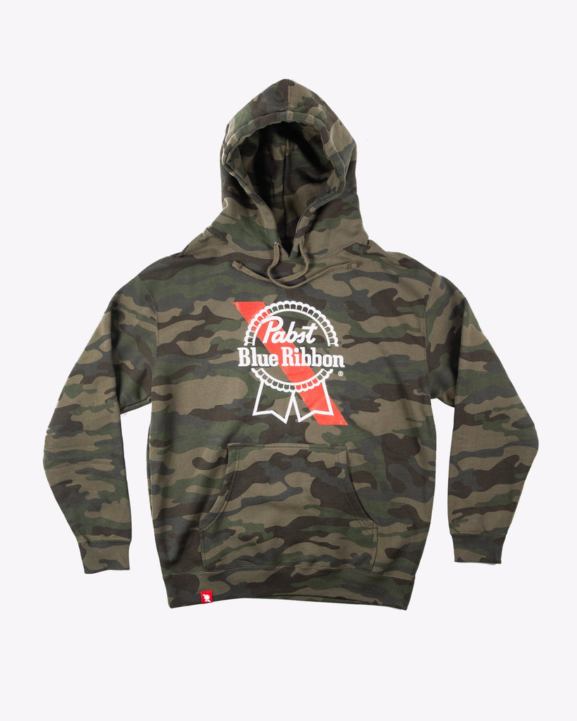 Banner Hoodie Camo - Pabst Blue Ribbon Store