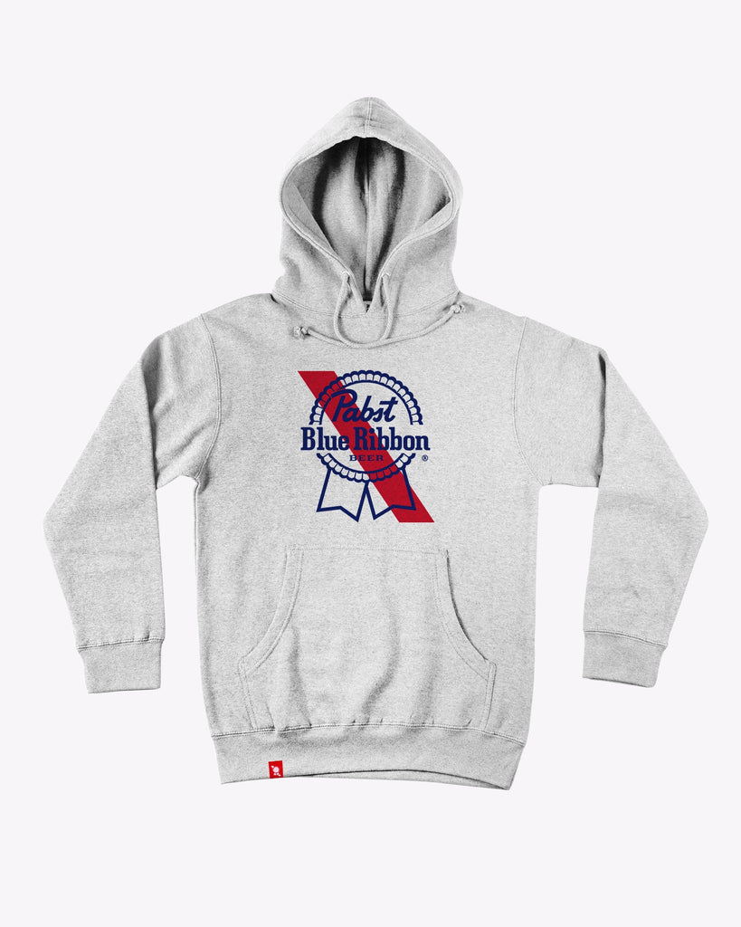 Banner Hoodie Heather - Pabst Blue Ribbon Store