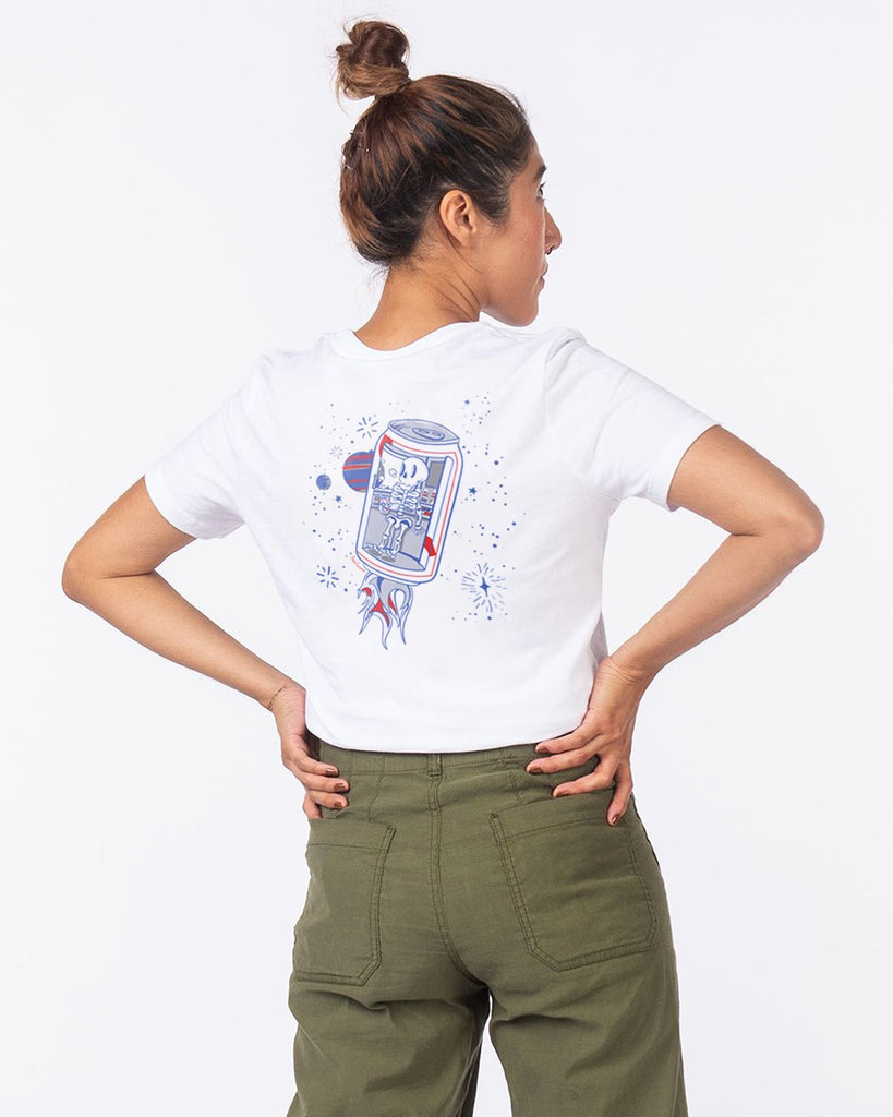 Ash X Pabst Women's Tee- White