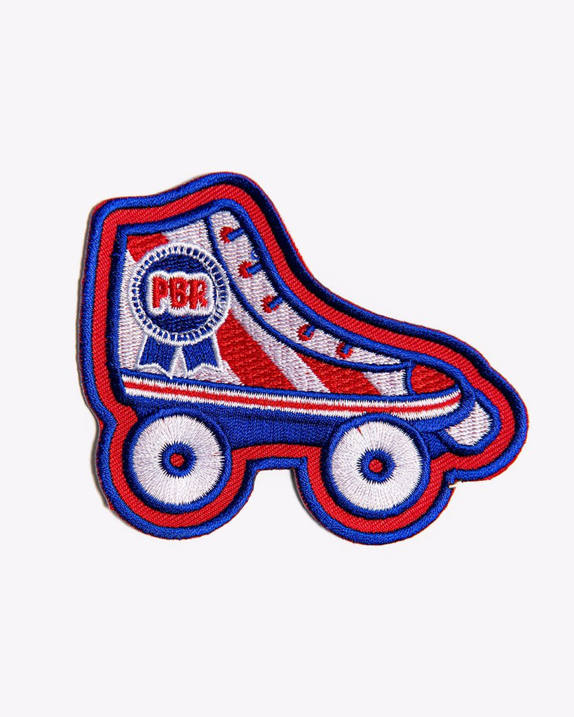 Retro Roller Girl PBR Patch