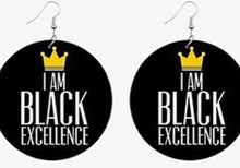 "Load image into Gallery viewer, ""Black Excellence"" Earrings"