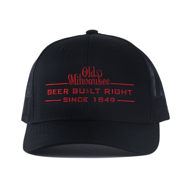 BUILT RIGHT TRUCKER HAT - BLACK