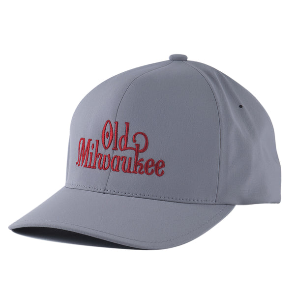 OLD MIL LOGO FITTED HAT - SILVER