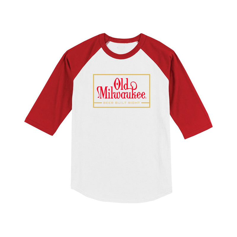 Built Right Raglan Wht/Red