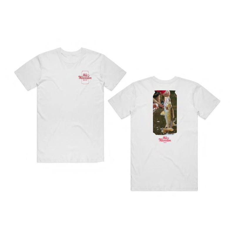 WALLEYE TEE - WHITE