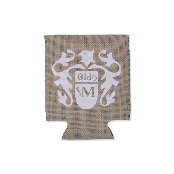 Old Mil Eagle Burlap Koozie