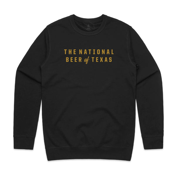 BEER OF TEXAS CREWNECK SWEATER - BLACK