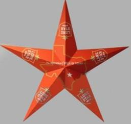 LS METAL SIGN 3D STAR PK=1