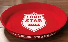 Lone Star Metal Serving Tray 13''