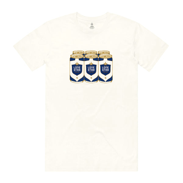 LIGHT 6 PACK TEE - WHITE