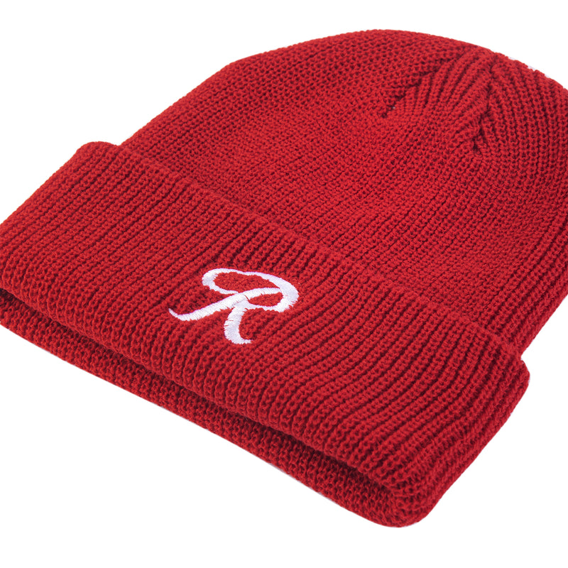 LITTLE R CUFF BEANIE - RED