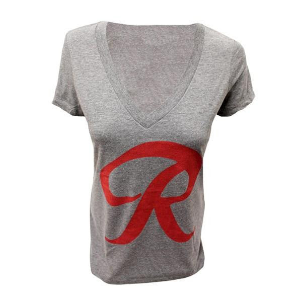 RNR T-SHIRT LADIES V NECK GREY