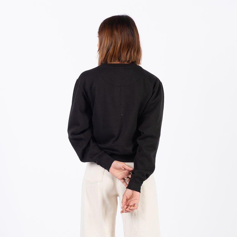 LABEL CREW NECK- BLACK
