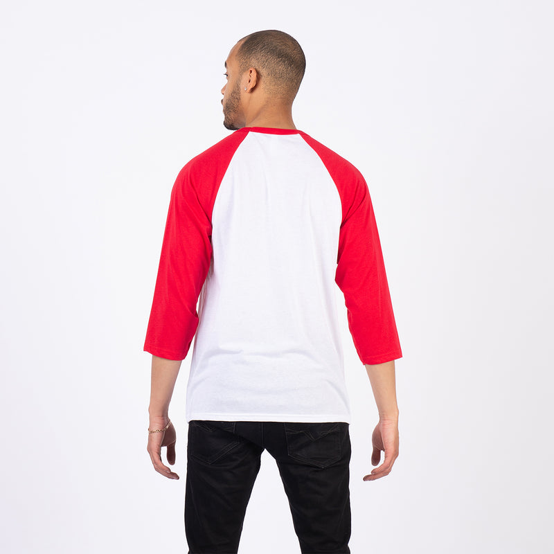 BOX RAGLAN-WHITE/RED