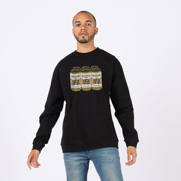 6 PACK CREWNECK- BLACK