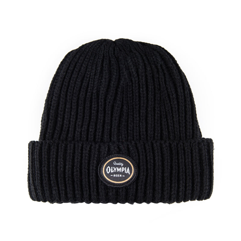 Olympia Patch Beanie-Black