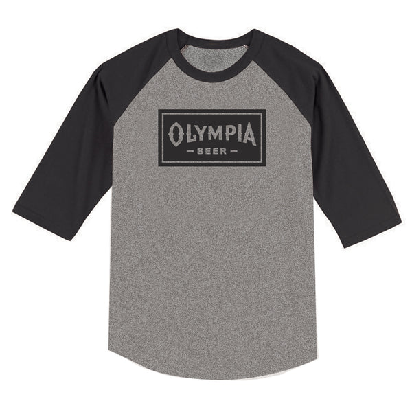 BOX RAGLAN- CHARCOAL - Olympia Beer