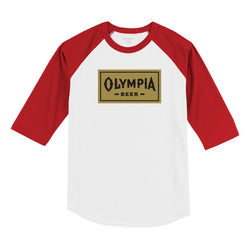 BOX RAGLAN-WHITE/RED - Olympia Beer