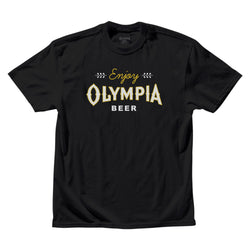 LEAF TEE- BLACK - Olympia Beer