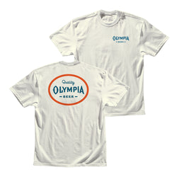 SIMPLICITY TEE- VTG WHITE - Olympia Beer