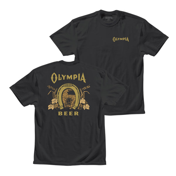 GOOD LUCK TEE- BLACK - Olympia Beer