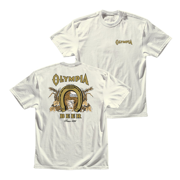 GOOD LUCK TEE- VINTAGE WHITE - Olympia Beer