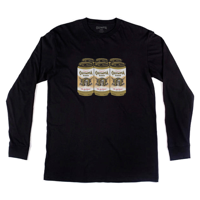 6 PACK LONG SLEEVE- BLACK