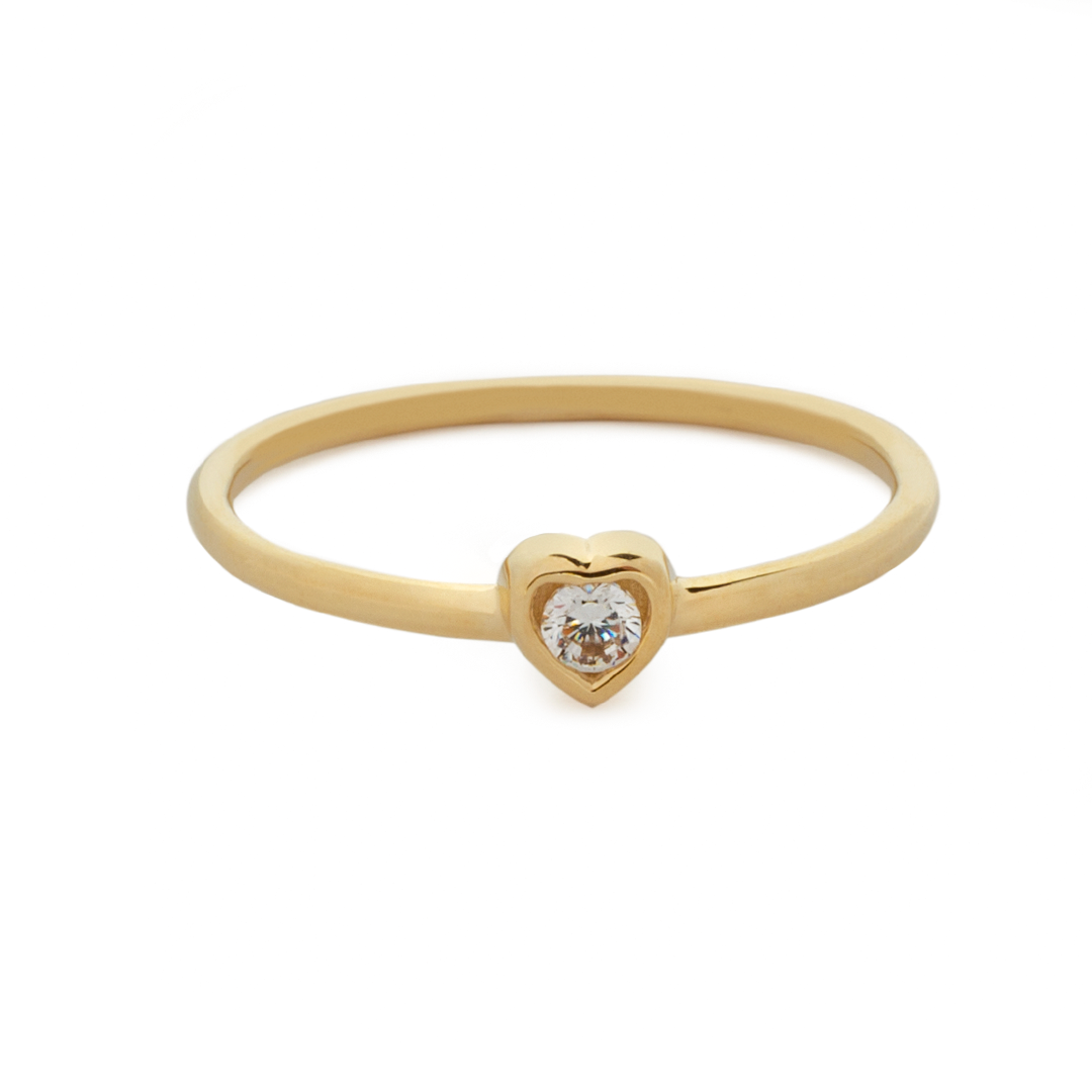 LIL' GOLD HEART RING