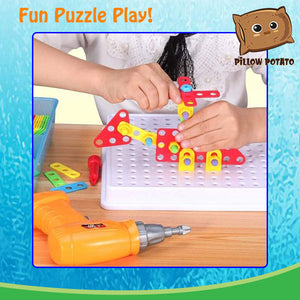 Kids Drill Simulation Puzzle Play Set