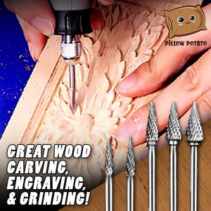 High Speed Double Groove Carving Drill Bits (1 set 5 pcs.)