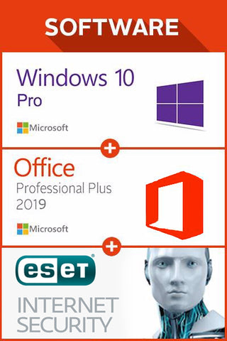Win 10 Pro + Office 2019 + ESET Internet Sec