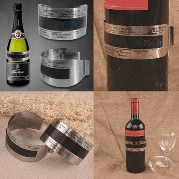Thermomètre bracelet pour bouteille de vin (4-24'C) 100004472 New Kitchen Pop